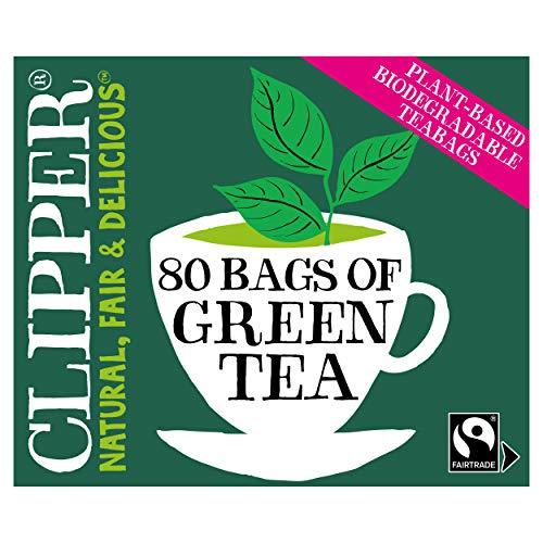 Clipper Organic Fairtrade Pure Green 80 Tea bags (Pack of 6, Total 480 Teabags)