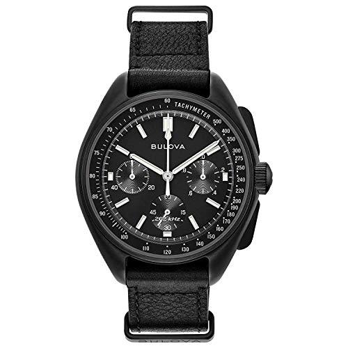 Bulova Herren Analog Quarz Uhr mit Echtes Leder Armband 98A186