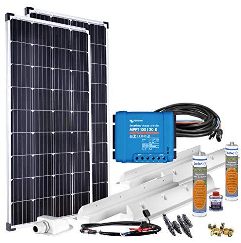Offgridtec® mPremium+ XL 300W 12V MPPT Caravan Solarset Victron SmartSolar 100/20