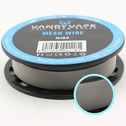 Ni80 Nichrome Mesh Wire 100mesh Neuheit VandyVape Draht RBA RDA Vandy Vape