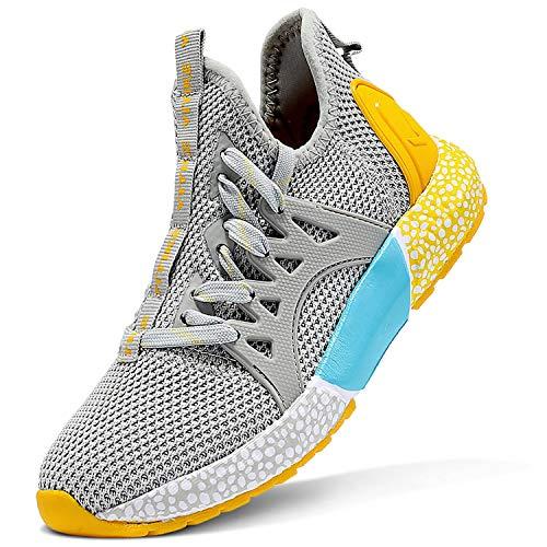 ASHION Turnschuhe Jungen Sport Schuhe Sneaker Outdoor Laufschuhe(G-Grau,39 EU)