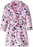 Peanuts Komar Kinder-Bademantel aus Fleece für Mädchen -  Weiß -  X-Small