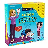 Action Verb Cards Floor Game, Interactive and Movement Kids Game, Educational Learning Materials for Children, Matching Cards Toddler Games