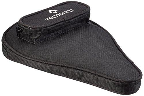 TECNOPRO Tischtennis-Schläger-Hülle mit Ballfach schlägerhülle, Schwarz, One Size