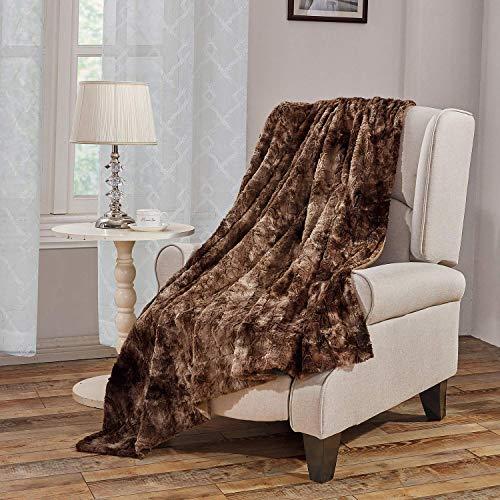 Yirantian Kuscheldecke XL, Kunstfell Flauschige Decke, Zweiseitige Fleece Tagesdecke 160 x 200cm, Super Weiche Warm mit doppelt genäht Fleecedecke für Schlafzimmer, Sofa, Sessel