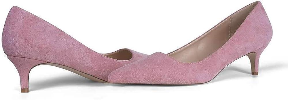GENSHUO Womens Kitten Heels Pumps Sacramento Mall Classic 2 O New life Inch Slip Low Heel