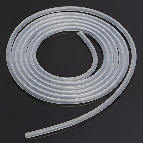 Takestop® Tuyau flexible blanc transparent en acrylique 8 mm x 10 m - pour aération d'aquarium, pompe de bassin, filtre liquide - Air et Eau