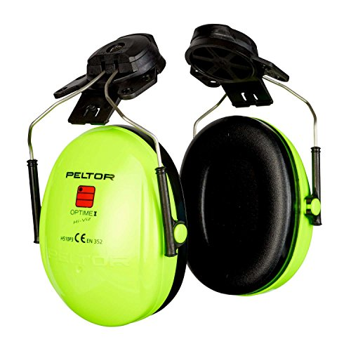 3M PELTOR Optime I Orejeras para casco Alta Visibilidad 26 dB (1 orejera/caja), H510P3E-469-GB