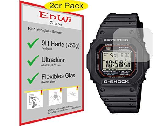 EnWi | 2X Panzer-Glas-Folie 9H Bildschirm-Schutz-Folie für Casio G-Shock