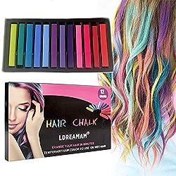 Image of Hair Chalk, 12 Colors Hair...: Bestviewsreviews