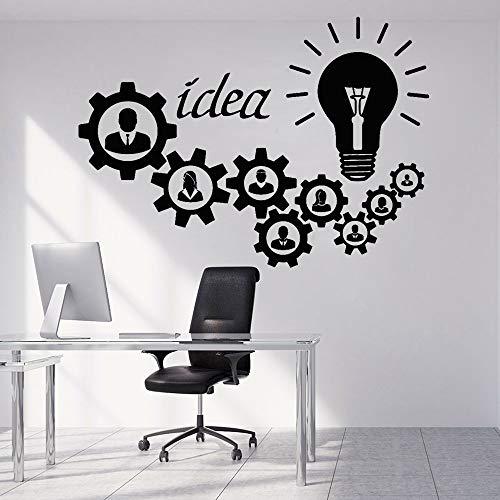JXMK Worker Gear Corporate Muurtattoo Vinyl peer idee kantoor decoratie Muursticker creatieve wanddecoratie behang
