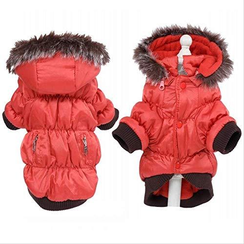 XYBB hondenkleding winter dogs warm fleece ski parka dog coats jas kleding voor honden puppy's teddy chihuahua XS S M L XL 2XL, XXL, Oranje