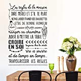 Vinyl Wall Statement Family DIY Decor Art Stickers Home Decor Wall Art Sticker Citation Les Regles De A Maison Ranger Sa Chambre Living Room Paper