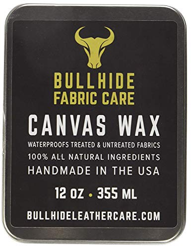 Canvas Wax 6 oz - Natural Canvas Wax for Heavy Fabric Items - Made in USA