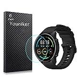 Youniker Pack de 6 protectores de pantalla compatibles con Xiaomi Mi Watch Smartwatch Protectores de pantalla de lámina transparente HD antiarañazos, antihuellas dactilares