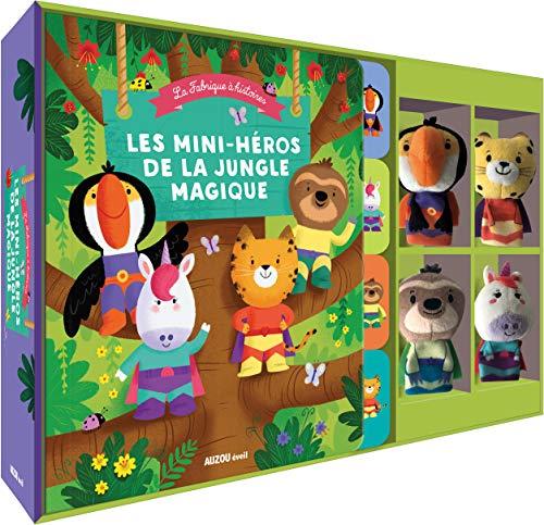 Les mini-héros de la jungle magique : Avec quatre marionnettes à doigts