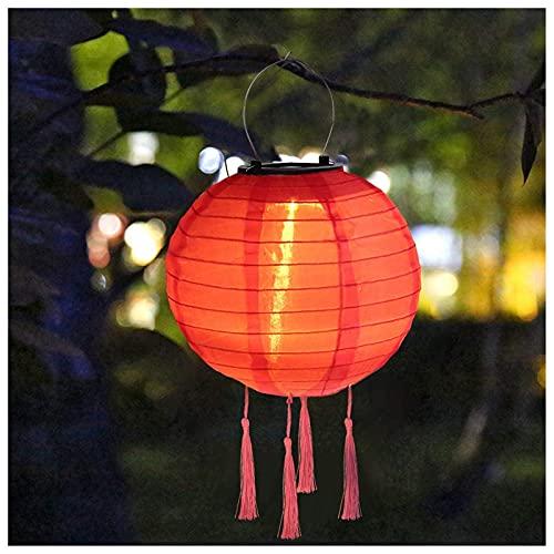 Solar Lampions für außen - IP55 Waterproof Solar LED Lantern Garden Lantern, Hanging Lampions für Wedding Church und Party Dekoration (J, 30CM)