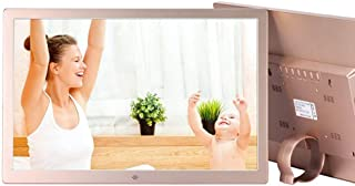 Digital Photo Frame,21 Inch Silver Digital Photo Frame LCD Screen 1920 * 1080,MP3/MP4 Video Player Electronic Picture Albu...