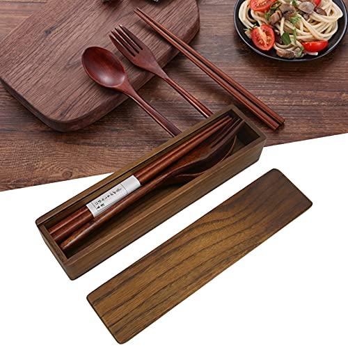 Juego de vajilla, cubiertos para exteriores 100% madera para barbacoas Almuerzos escolares para niños para exteriores y viajes