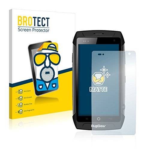 BROTECT 2X Entspiegelungs-Schutzfolie kompatibel mit RugGear RG730 Bildschirmschutz-Folie Matt, Anti-Reflex, Anti-Fingerprint