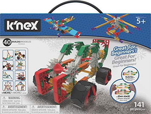 K'NEX Beginner 40 Model Building Set - 141 Parts - Ages 5 & Up - Creative Building Toy, Multi