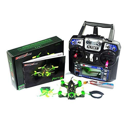 QWinOut Happymodell Mantis85 85mm FPV Renn-Drohne Pure Carbon Quadcopter Rahmen Kit mit Flysky FS-I6 Sender RTF-Drohne (Modus 2)