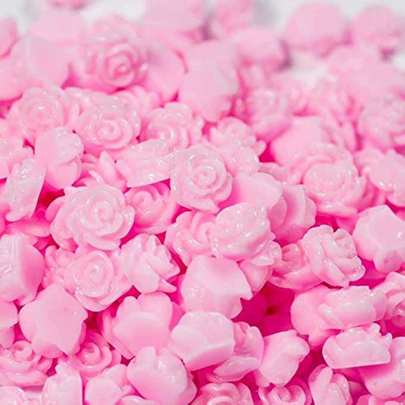 良性冷淡な比率【クラフトパーツのチェロ cb06-chr 】 ミニミニフラワーカボション バラ チェリーピンク 10個セット 3.0mm