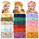 18PCS Baby Nylon Headbands Hairbands Hair Bow Elastics for Baby Girls Newborn Infant Toddlers Kids