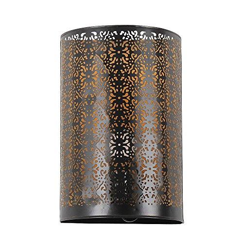 albena shop 71- orientalische Wandlampe H 30cm / B 19cm (Kavita schwarz)
