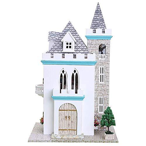 Casetta dei giochi in legno, kit di miniature fatte a mano per casa delle bambole fai da te, modello di castello al chiaro di luna, regali di compleanno creativi per ragazzi, ragazze, donne e amici