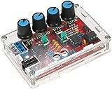 DIY Function Generator Kit, ICL8038 5Hz~400kHz Waveform Generator Kit 9-12V DC Input Sine/Triangle/Square Output
