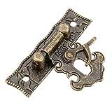 Holzkoffer Werkzeugkoffer Verschluss-Überfalle und Riegel 5.1cm x2.9cm
