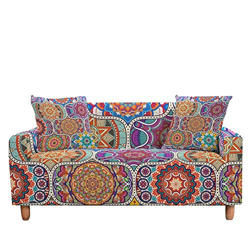 ASCV Funda de sofá elástica para Sala de Estar 3D Mandala