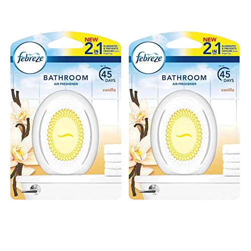 2 x Febreze 2in1 Bathroom / Small Spaces Air Freshener 7.5 ml - Vanilla.