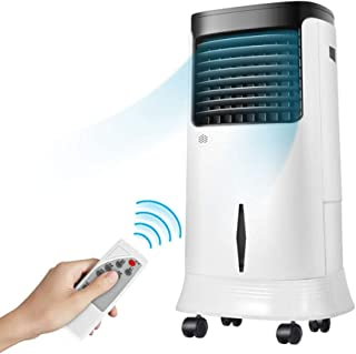 Enfriador evaporativo temporizado 12H, Aire Acondicionado portátil de humidificación/purificación/enfriamiento, 3 Ventilador del Aire Acondicionado del Tanque de Agua de Velocidad del Viento 20L,