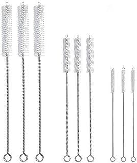 Hiware Drinking Straw Cleaning Brush Kit - (3-Size) 9-Piece Extra Long Straw Cleaner - Cleaning Brush for Multiple Size Straws