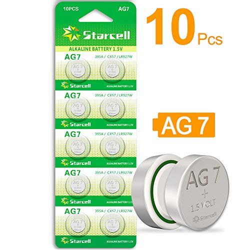 Starcell Knopfzelle SR927SW LR927 AG7 SR929SW 395 399, 1,55 V, 10 Stück