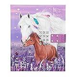 Depesche 11419 Tagebuch mit Code und Sound, Miss Melody, violett, ca. 18 x 15 x 3,5 cm, mit linierten Seiten für geheime Gedanken und Gefühle