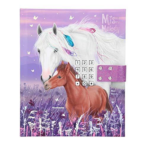 Depesche 11419 - Tagebuch mit Code und Sound, Miss Melody, violett, ca. 18 x 15 x 3,5 cm, mit linierten Seiten für geheime Gedanken und Gefühle