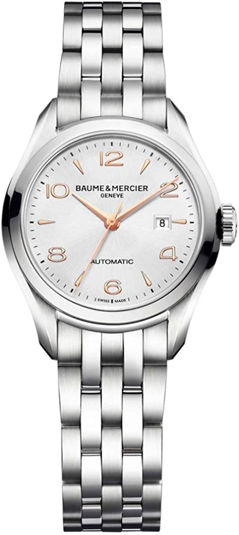 Baume Mercier Nashville-Davidson Mall Clifton Womens Automatic Watch - 30mm Analog Quantity limited Sil