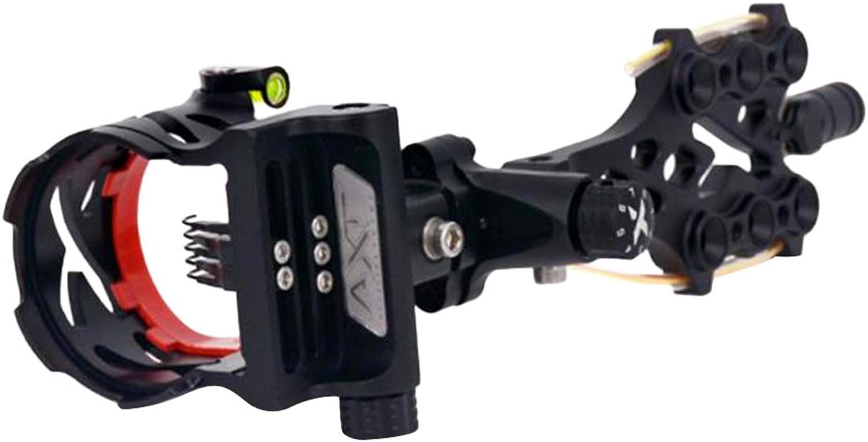 D DOLITY Archery Compound Bow Sight 5 Pin Fiber Brass Micro-Adjustable Pin