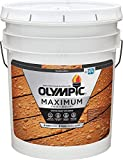 Olympic Stain 56504-5 Maximum Wood Stain and Sealer, 5 Gallons,...