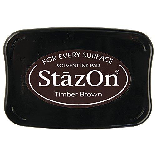 RAYHER - 28383552 - tampón de Tinta StazOn, marrón Oscuro
