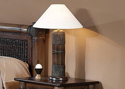 Möbel Bressmer Tischlampe Nachttisch Lampe Tropicana Bambuslampe Bambusbett Kolonial