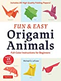 Fun & Easy Origami Animals Ebook: Full-Color Instructions for Beginners (English Edition)