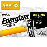 32 Pack von Energizer Alkaline power-aaa-batterien. Energizer hat die erste quecksilberfreie AA-Alkalibatterie entwickelt. Diese ist seit 1991 im Handel erhältlich Die sichere Konstruktion verhindert ein Auslaufen der Batterien während der Lagerung, ...