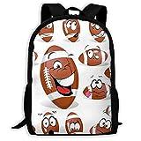 Shoulder Bag,Rugby Ball Bookbag Gife Casual Printed Backpack 32cm(W) x42cm(H)