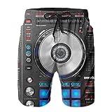 Yesunnye Men's Swimming Trunks Digital Dj Controller Beach Shorts Swimwear Quick Dry Board Shorts White