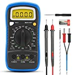Infurider Digital Multimeter YF-838L Handheld Electronic Voltmeter for AC DC Voltage, Amp Ohm Volt Test Meter with hFE,Diode,Continuity,Temperature Test(Manual Ranging DMM)