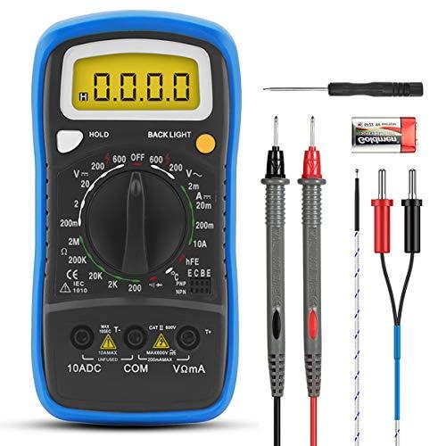 INFURIDER デジタルマルチメータ YF-838L ハンドヘルド手動テスター DC AC電圧、DC電流、ダイオード、抵抗、温度測定用、hFE、導通テスト【日本語説明書付き】